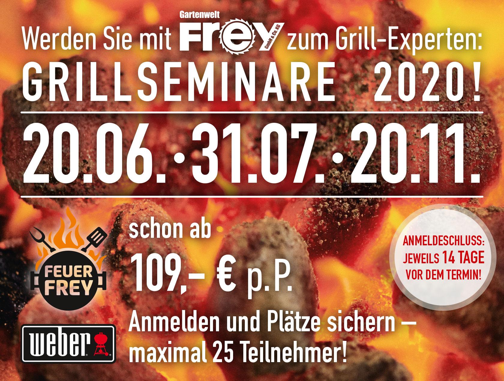 Werden Sie mit GARTENWELT FREY zum Grill-Experten – mit FEUER FREY!