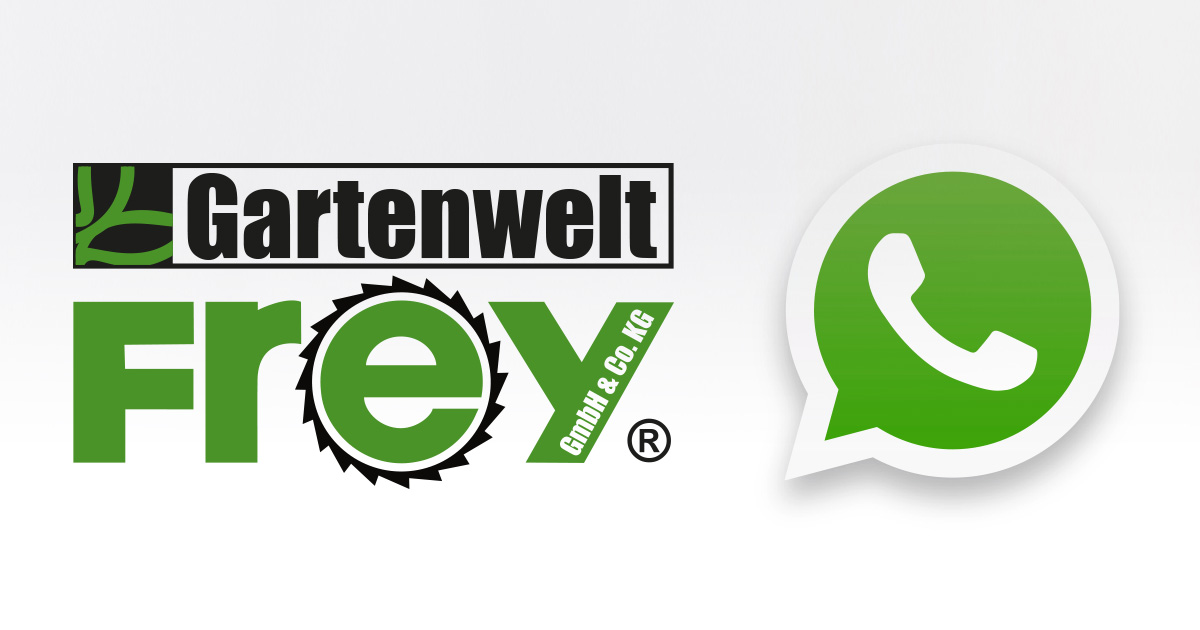 WhatsApp: Kontaktlose Bestellung durch GARTENWELT FREY in Dernbach – Ihr Profi für Forst- und Gartengeräte